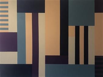 Roberta Caviglia - Playful Geometry #6 Acrylic on Canvas, Paintings
