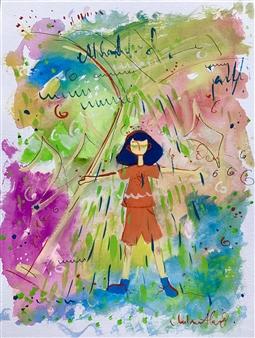 Milana Alaro - Free Gouche on Paper, Paintings