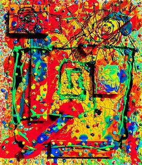 Miho Nishibe - Grrr Acrylic & Oil on Canvas, Paintings