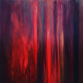 Rebecca Stenn - Red Acrylic on Canvas, Paintings