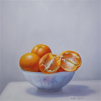 Rodolfo Regaño - Bol con Naranjas Oil on Canvas, Paintings