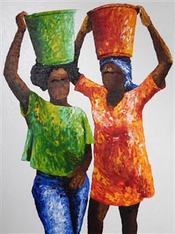 Richard RAN - Vital Chore Oil on Canvas, Paintings