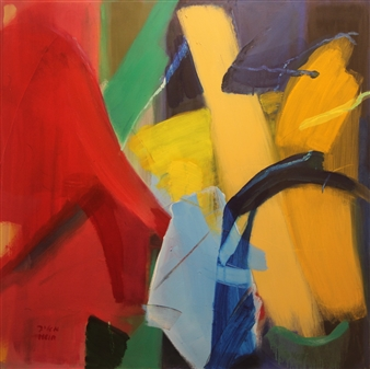 Meir Raz - Untitled 1084 Oil on Canvas, Paintings