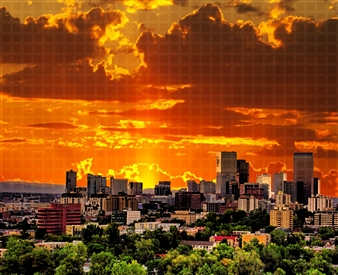 Howard Harris - Denver Digital Print on Aluminum, Digital Art