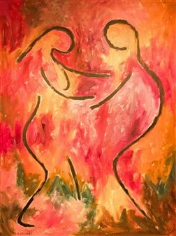 Aila Snickars - Dancers Acrylic on Canvas, Paintings