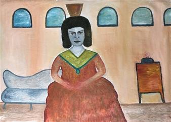 Merab Kardava - Queen Oil on Canvas, Paintings