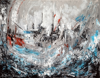 Martina Della Rocca - Tempête Acrylic on Canvas, Paintings