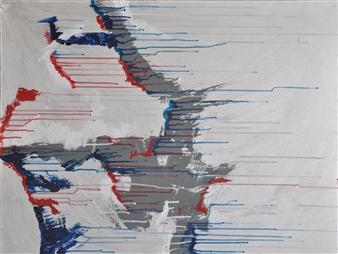 Barbara Wykrota - Sans Titre 2010-2 Acrylic on Canvas, Paintings