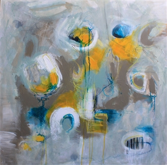 Emmanuelle Auzias - Flying #2 Mixed Media on Canvas, Mixed Media