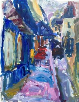 Susan Marx - Notre Dame de Lorette, Montmartre, Paris Acrylic on Canvas, Paintings