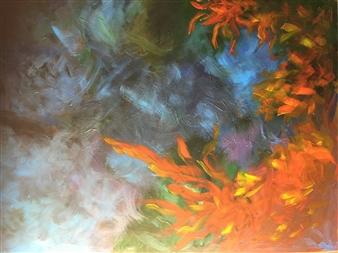 Maribel Matthews - Environmental Impacts Oil on Canvas, Paintings