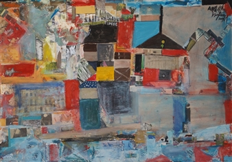 Ana Ingham - The English Summer Oil & collage on Board, Mixed Media