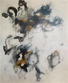 Alissa Van Atta - You Had Me at Hello Acrylic & Mixed Media on Canvas, Mixed Media
