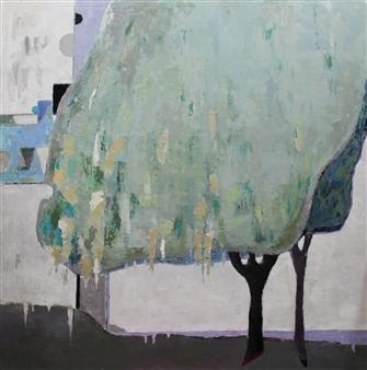 Becky Sungja Kim - OPL 1724 Oil on Canvas, Paintings