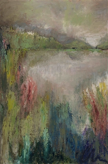 Charlene Falk - Meadow Oil on Canvas, Paintings
