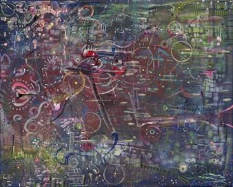 Denel-KK (Kristen Keeling) - Vector Collaboration Mixed Media on Canvas, Mixed Media