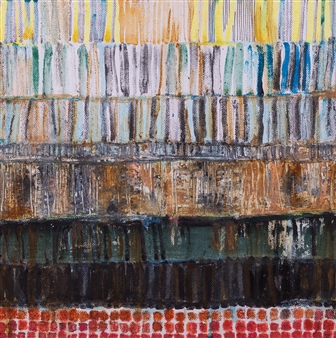 Fleur Cowgill - Butrint: Reclamation Oil & Pastel on Canvas, Paintings