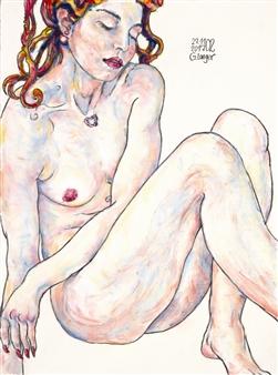 Gunter Langer - Romantik Acrylic on Paper, Paintings