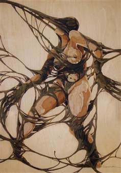Alexander Adam - Tangled Wood, Mixed Media