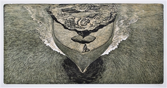 Venugopal V.G. - The Carrier Wood-Cut Print on Paper, Prints