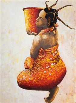 Richard RAN - Do It! Acrylic & Oil on Canvas, Paintings