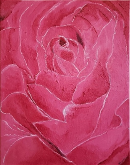 Rosalind Panda Dykla - A Rose Paintings, Paintings