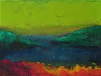 Pia Sjölin - Summer Heat Acrylic on Paper, Paintings