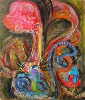 Kenji Inoue - Eroticism Acrylic on Canvas, Paintings