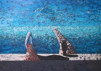 Frank M. Alba - Blind Faith Acrylic on Canvas, Paintings