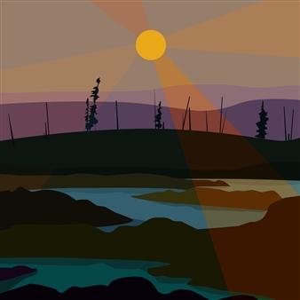 Phil Leith-Tetrault - Taiga Digital Print on Fine Art Paper, Prints
