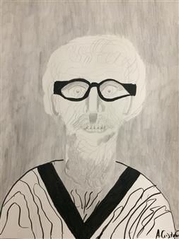 Aaron Cristofaro - Ralph Ink and Pencil on Paper, Mixed Media