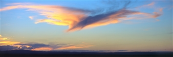 Donald Woodman - Belen West Mesa Bird Cloud Photograph on Fine Art Paper, Photography