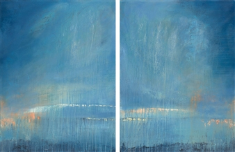Rebecca Katz - Reflective #1 and 2, diptych Acrylic on Canvas, Paintings