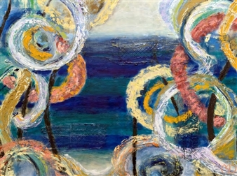 Marianne AuBuchon Devitt - Someday Oil & Mixed Media on Canvas, Mixed Media