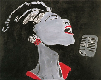 Monel Aliote - Billie Holiday Lady Day Acrylic on Canvas, Paintings