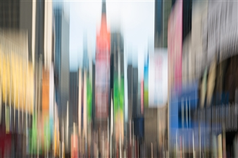 Gottfried Roemer - New York Times Square Light Photograph on Aluminum, Photography
