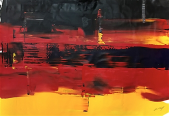 Gui Calil - Present Tense Acrylic on Canvas, Paintings