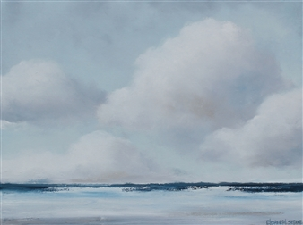 Elizabeth Sabine - Seascape No. 67 Oil on Canvas, Paintings