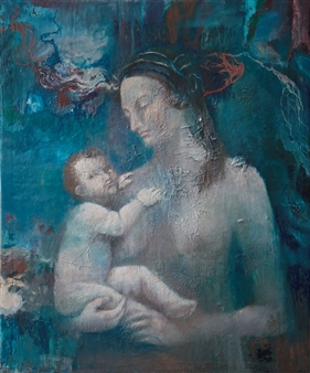 Christine Storey-Lange - Universal Mother Mixed Media, Oil & Egg Tempera on Canvas, Mixed Media