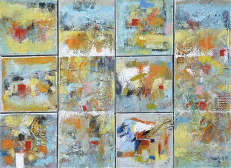 Kerstin Lundin - Some Together Oil & Mixed Media on Canvas, Mixed Media