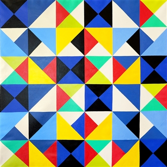 Osvaldo Bacman - The Mystery of Geometry #3 Acrylic on Canvas, Paintings