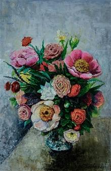 Deana Evstefeeva - The Vivid Reminder Oil on Canvas, Paintings