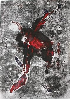 Roberta Caviglia - The Stain Mixed Media on Paper, Mixed Media