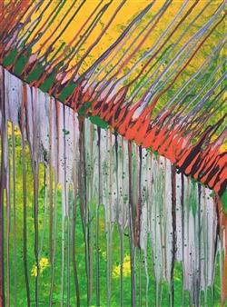 Elke Riedel - Cascade Acrylic on Canvas, Paintings