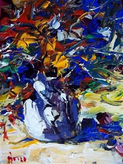 Babis (Bujar) Arizi - Still Life Oil on Canvas, Paintings