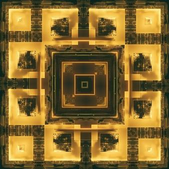 Hanan Levi - Golden Cage Digital Print on Canvas, Digital Art