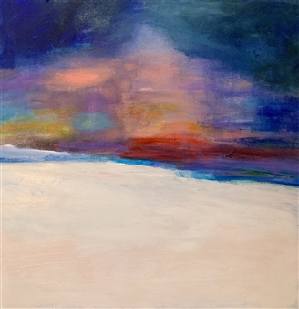 Jodi DeCrenza - Serene Fog Acrylic on Canvas, Paintings