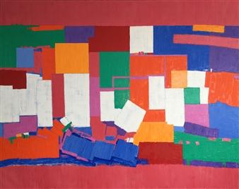 Mario España - Wonderland Oil on Canvas, Paintings