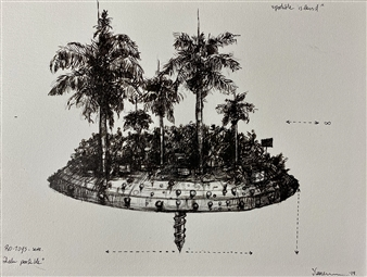Jeine Roque - Portable Island Pen on Paper, Drawings