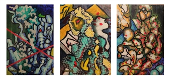 Koncept Feniks - Butterflies_01, 1987-2015 Dispersion & Gouache on Paper, Paintings